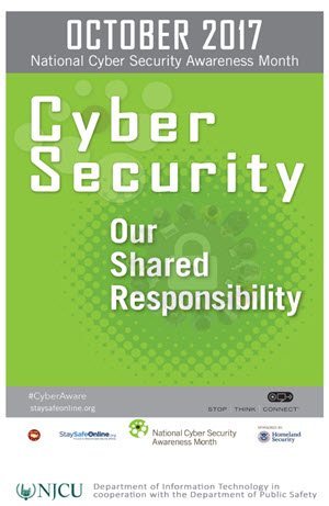 2017 NJCU IT Cyber Security Month (October)
