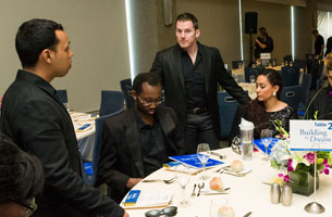 Hospitality services at an event