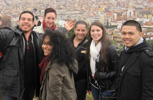 Students on a scenic overlook