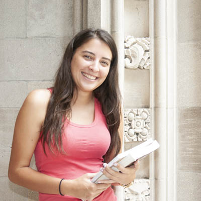 Undergraduate Student holding books