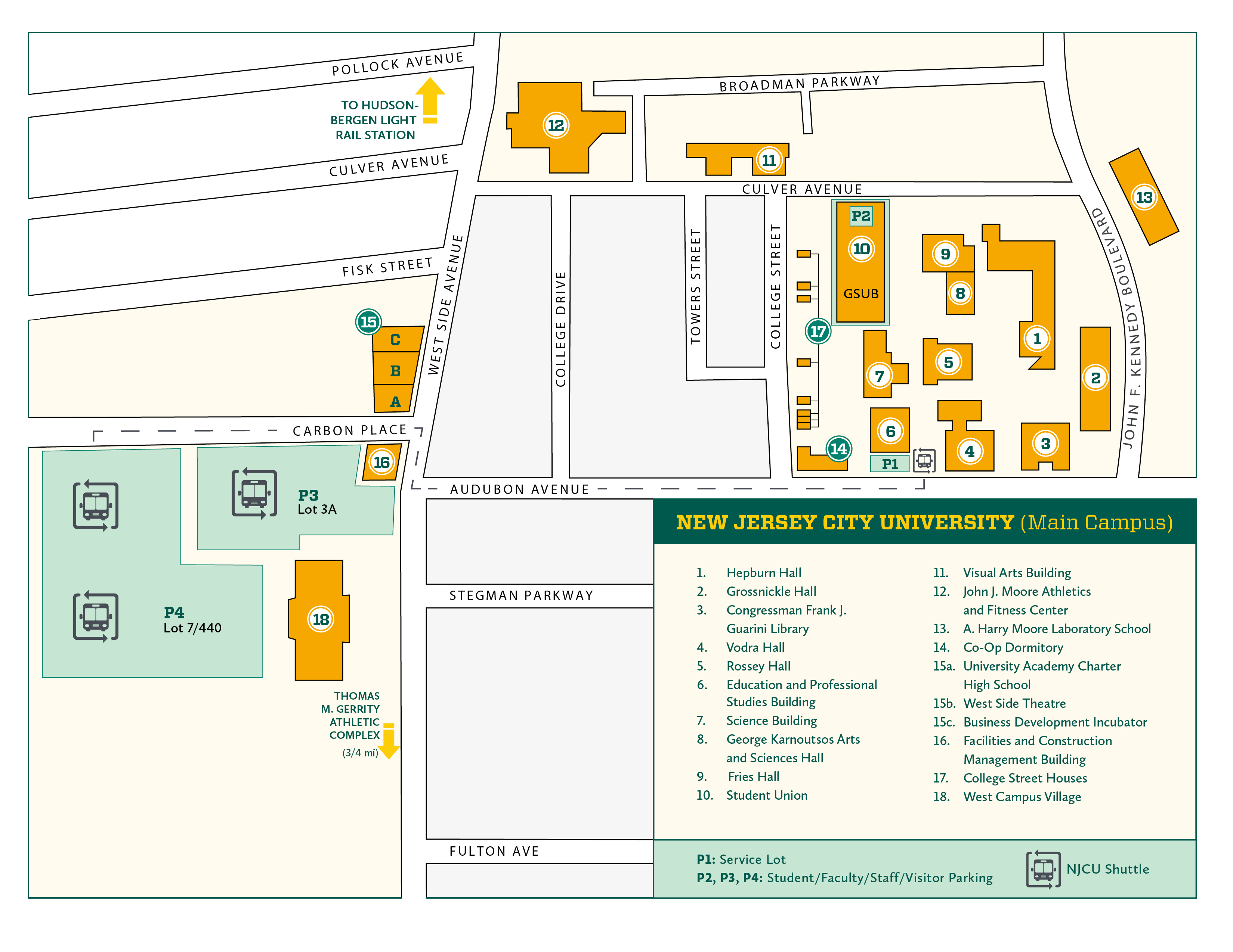 Campus Map | New Jersey City University