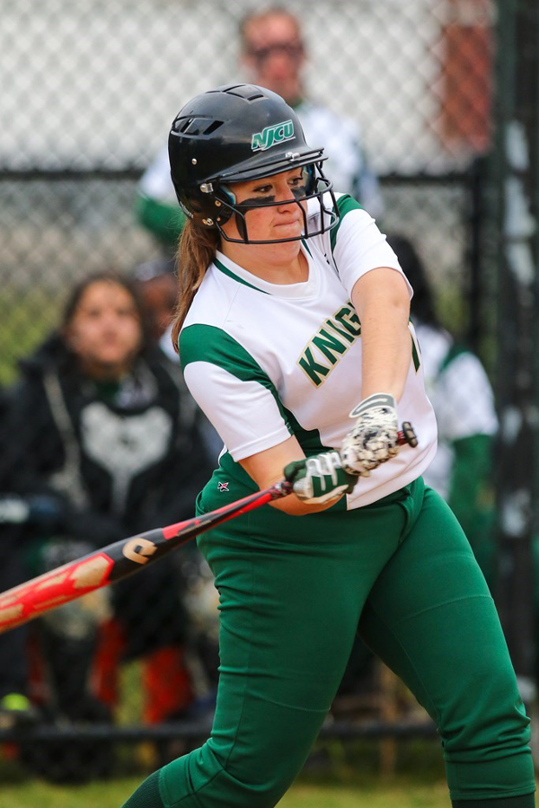 Woman with softball bat