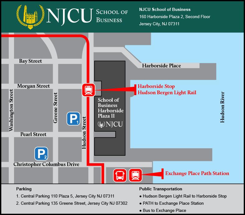 NJCU School of Business Map