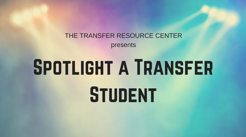 Spotlight a transfer student graphic link