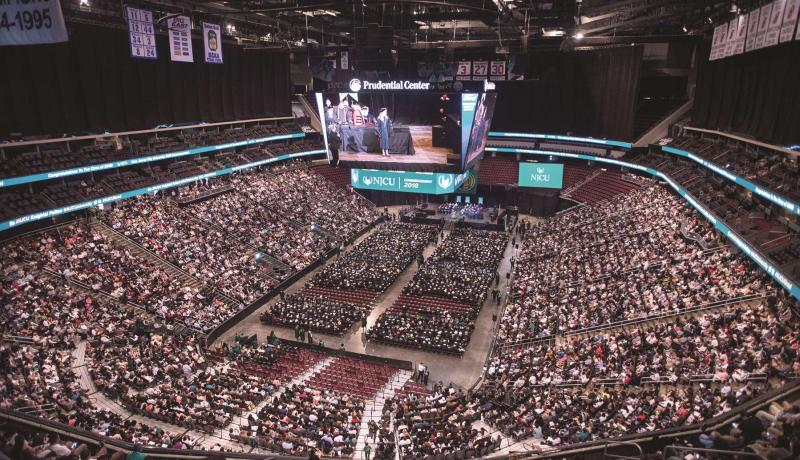 NJCU Commencement ceremony at the Prudential Center in Newark, NJ.