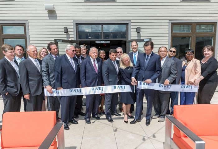 Ribbon-cutting for RIVET Apartment Building at NJCU's University Place
