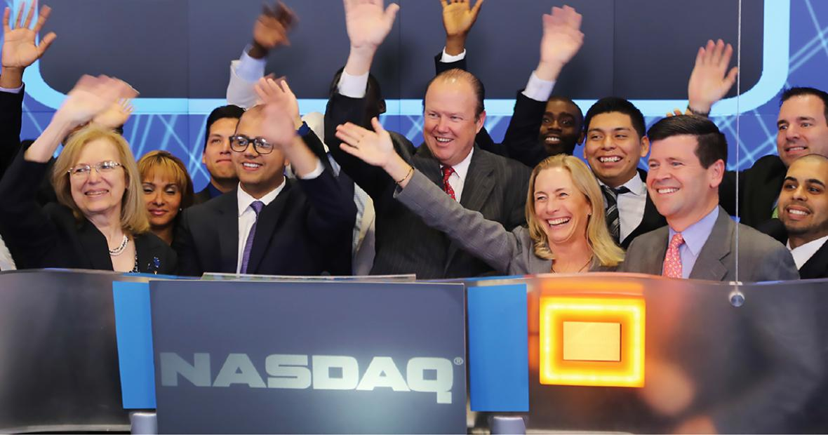 NJCU SIM Group rang closing bell at NASDAQ NYC Times Square