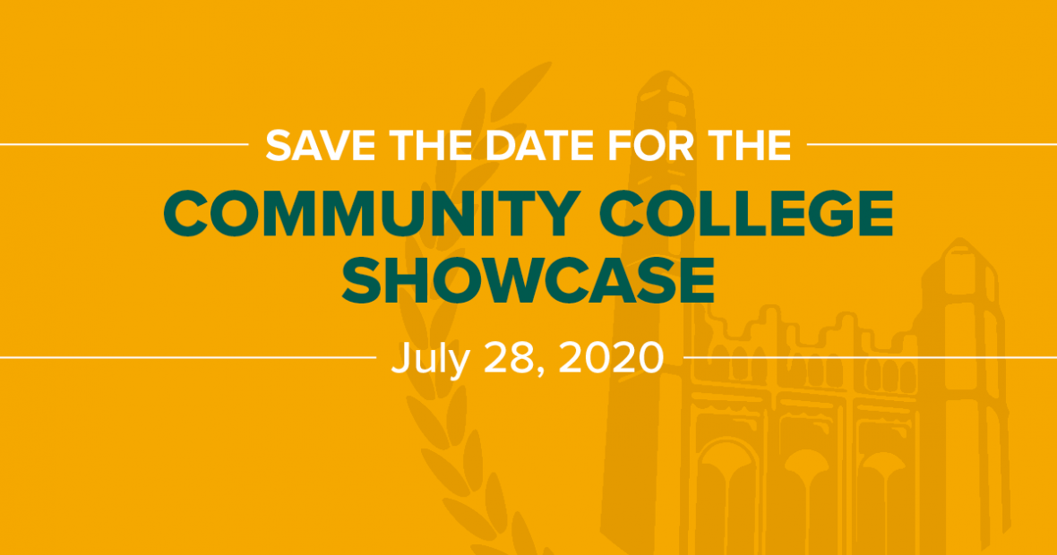 Community College Showcase is on July 29, 2020