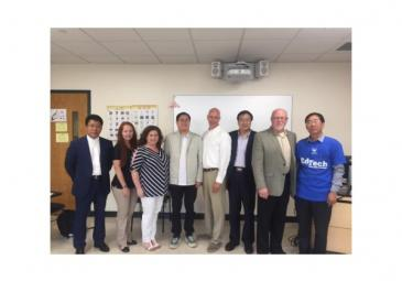 Student and Faculty with College Presidents from China