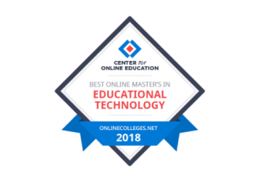 Award: Best Online Master's in Educational Technology 2018