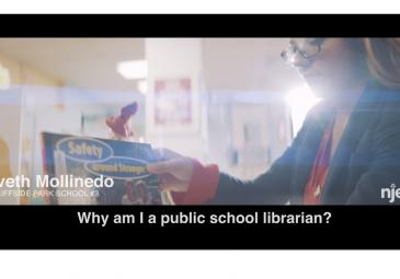"Screen shot of video Iveth Mollinedo ""Why am I a public school librarian"""