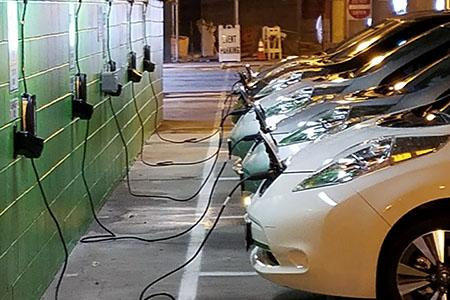 Electric Cars charging at the NJCU Electric Stations