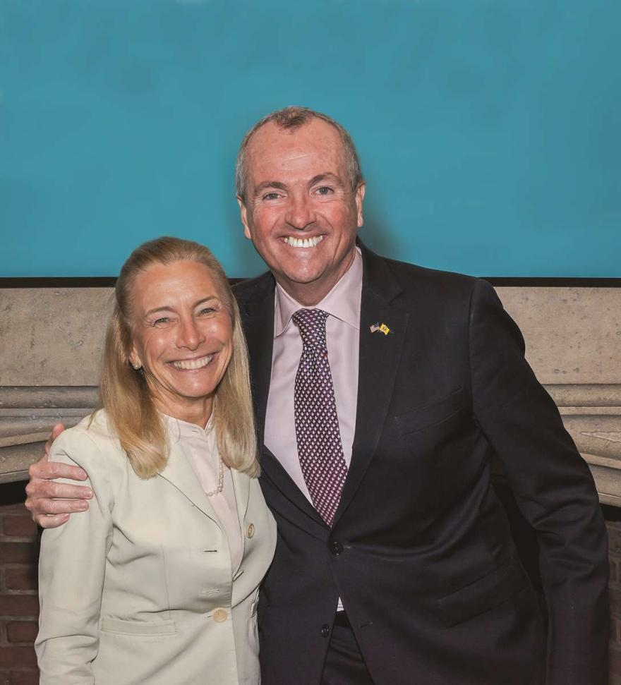Sue Henderson, Ph.D. and New Jersey governor Phil Murphy.