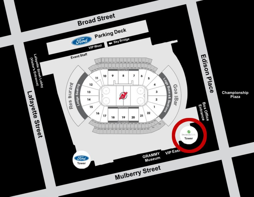 prudential center entrance map