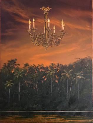 Oil painting titled Isla de Oshun