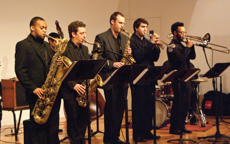 NJCU Jazz Orchestra Brass section performing