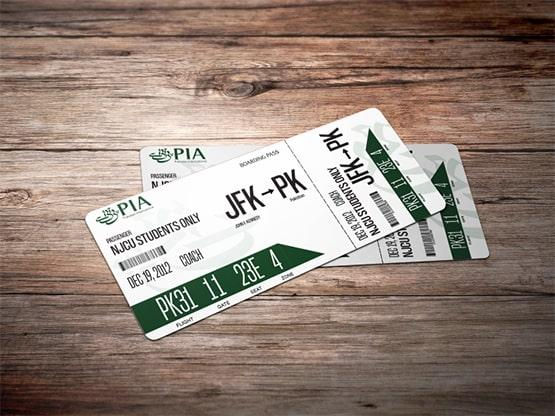 Customized PIA Boarding Pass