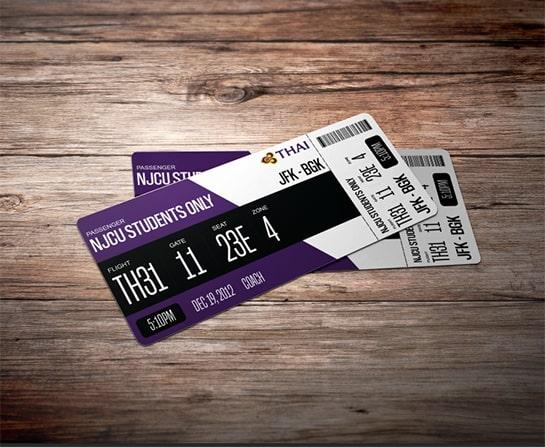 Customized Thai Boarding Pass