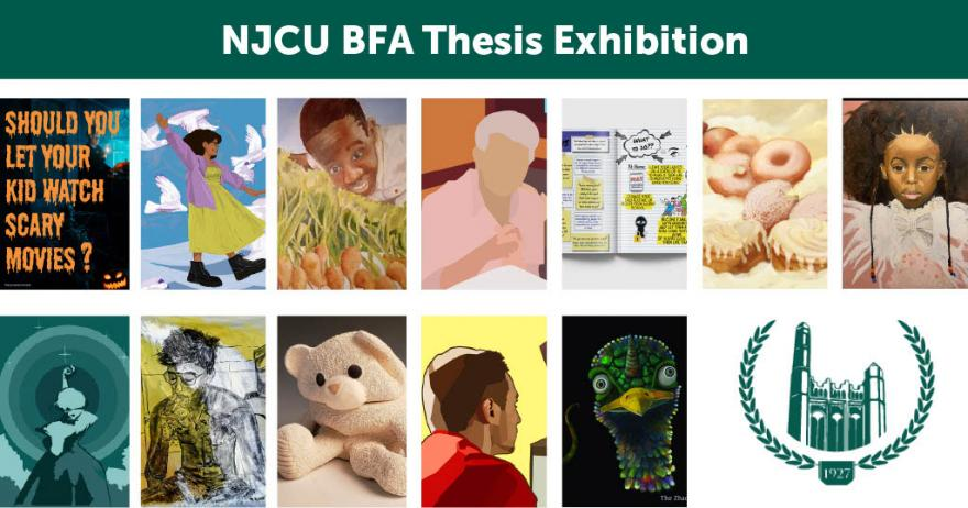 Selection of 2021 BFA Thesis Candidate's Artwork