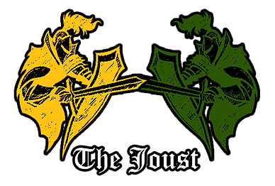 Cartoon of Jousting Knights
