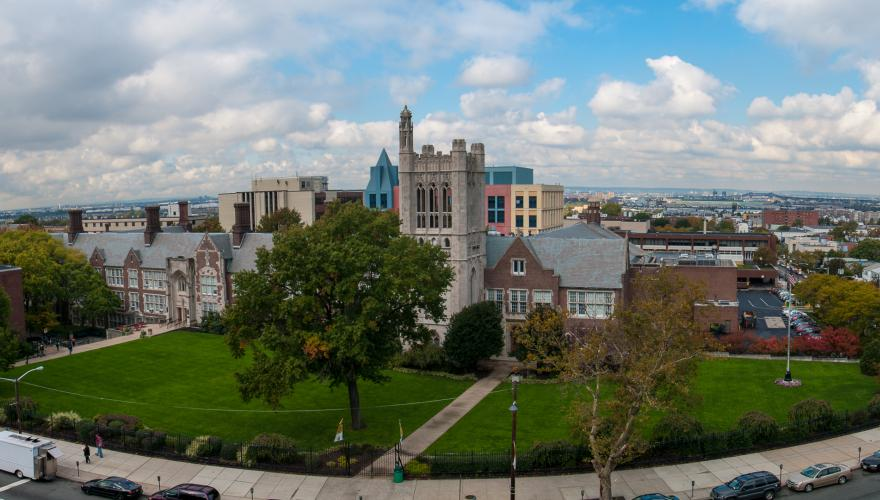Campus front pano