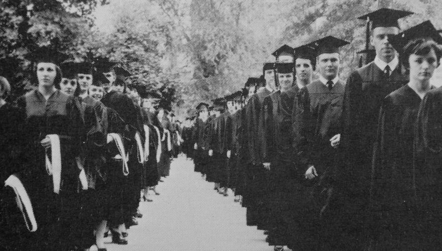 Graduation Ceremony from 1965