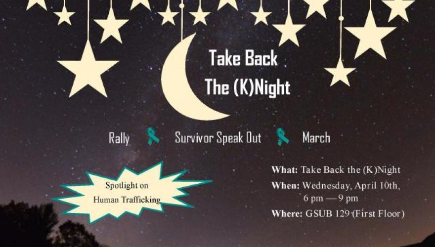Flyer for Take back the (K)night 2019.