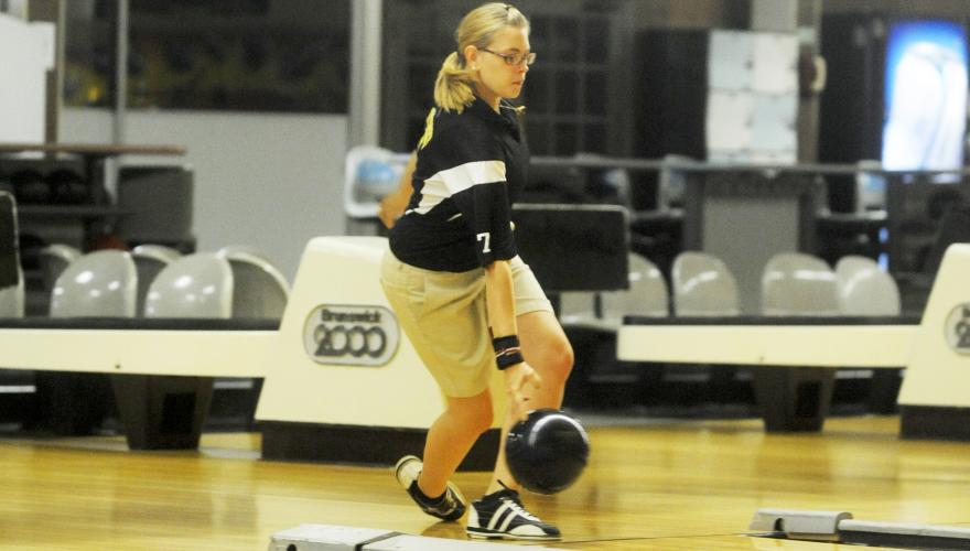 woman bowling