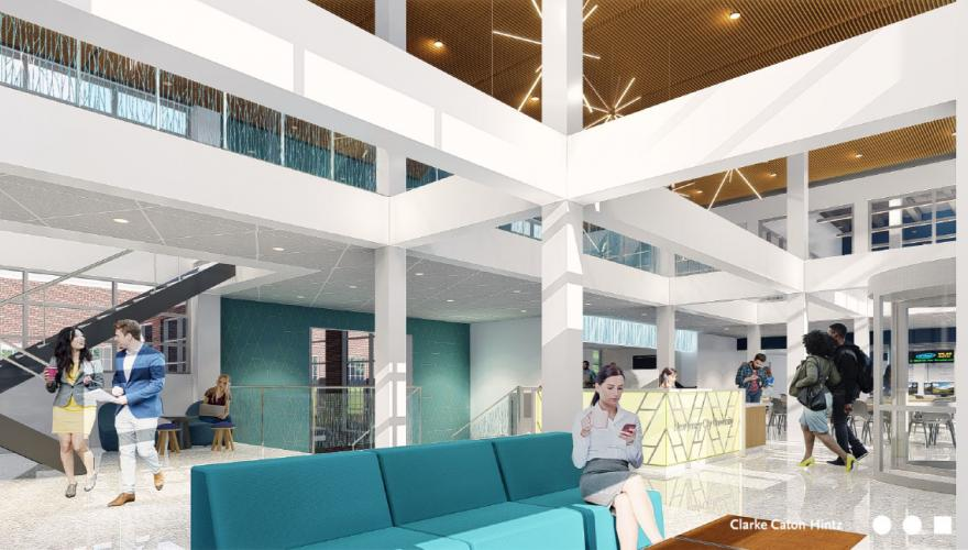 squier hall rendering interior