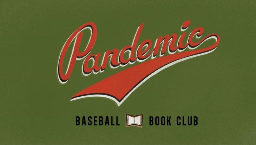 Pandemic baseball book club logo