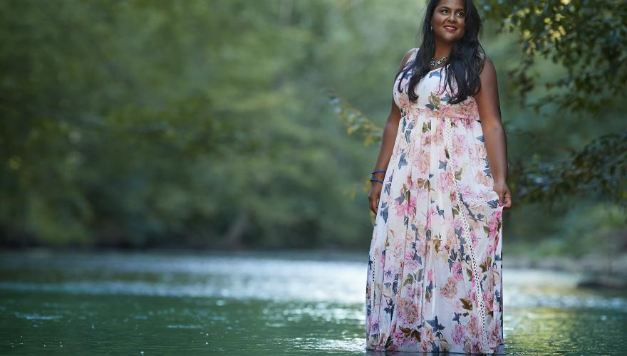 Krystal Sital standing in a lake
