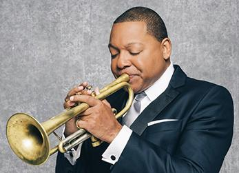 Photograph of Wynton Marsalis playing trumpet