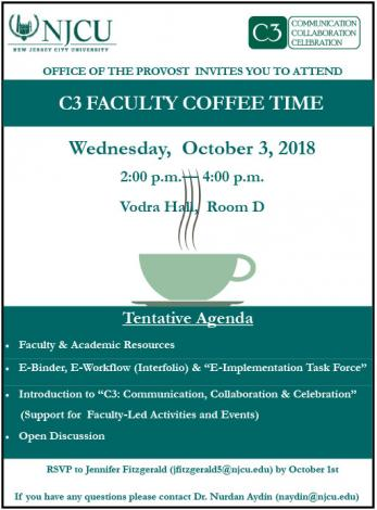 Provost Event Coffeetime flyer